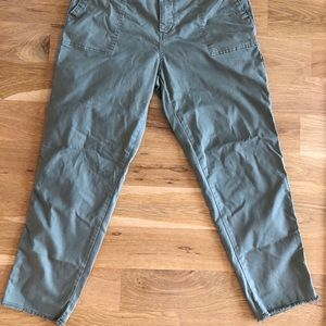 Topshop Maternity Green Khaki Cotton Pants Cargo 8